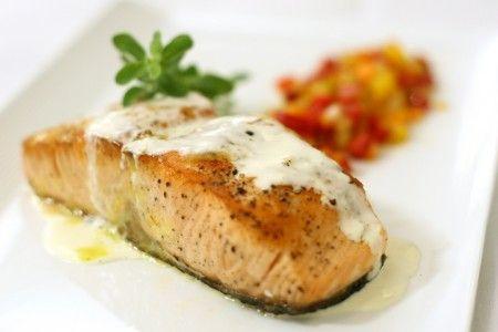 scaloppine di salmone con crema