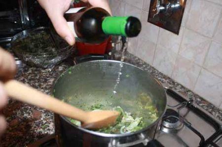 bagnate con il vino
