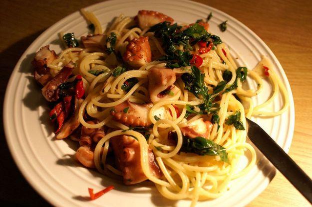 spaghetti col polpo