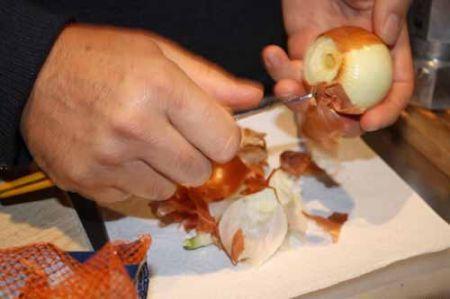 pelate le cipolle