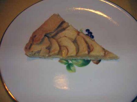 fetta di torta di mele sottile