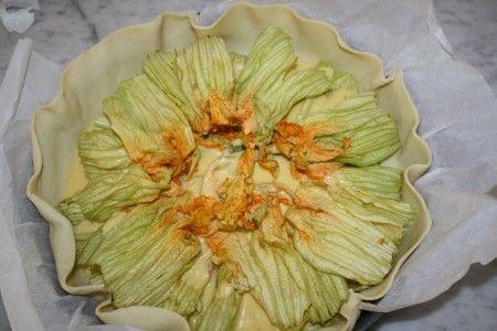 torta salata fiori di zucca 01