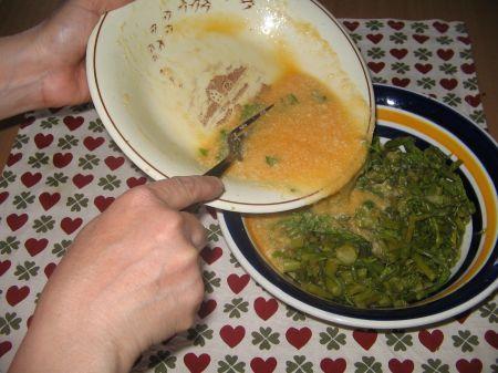 uova negli asparagi