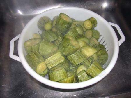 Scolate le zucchine