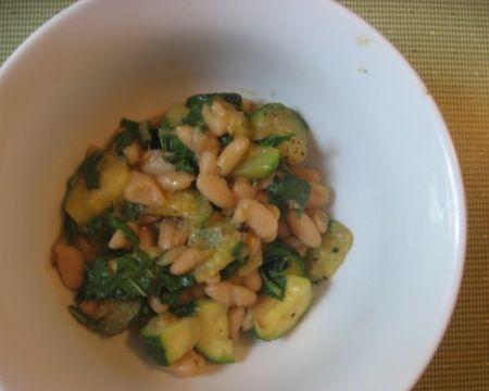 zucchine con fagioli