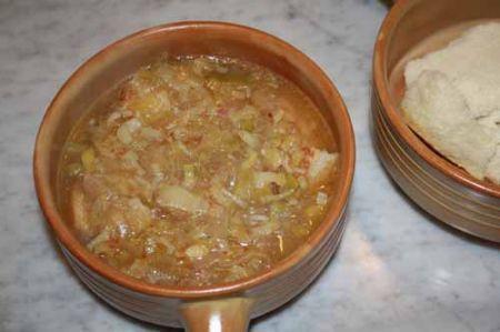 versate la zuppa