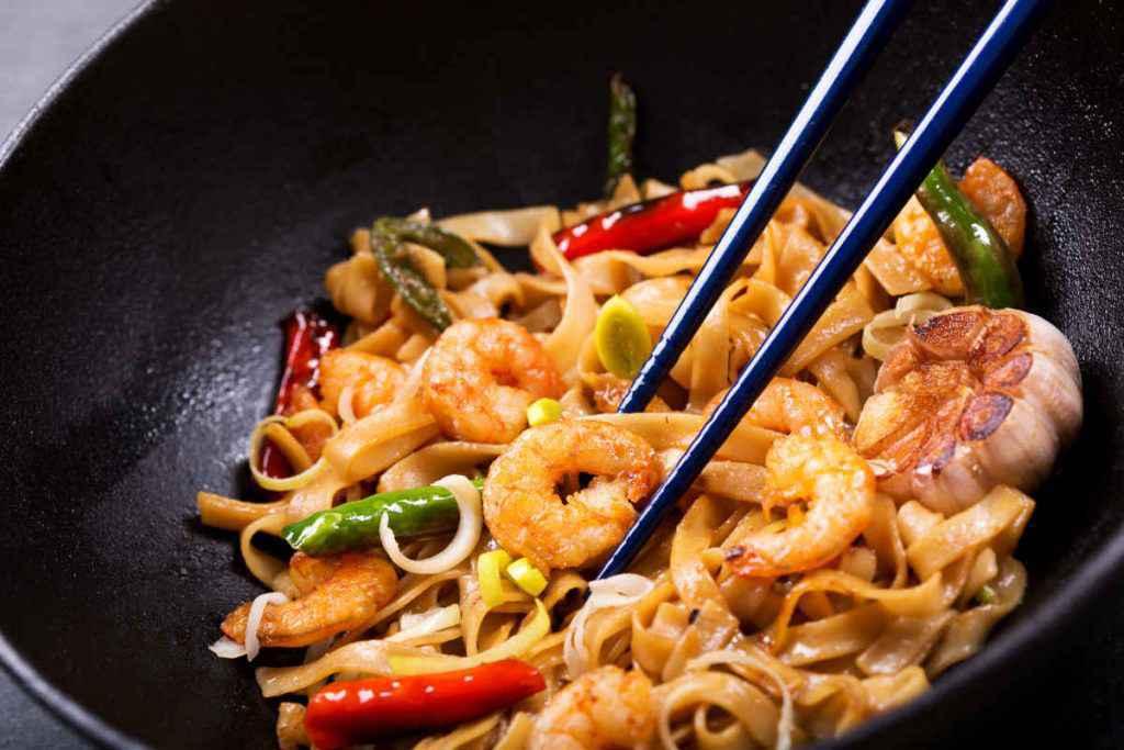 cucinare con wok