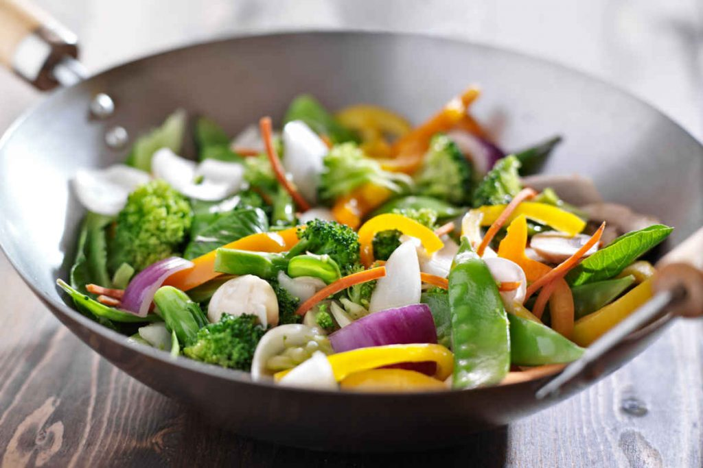 verdure in padella wok