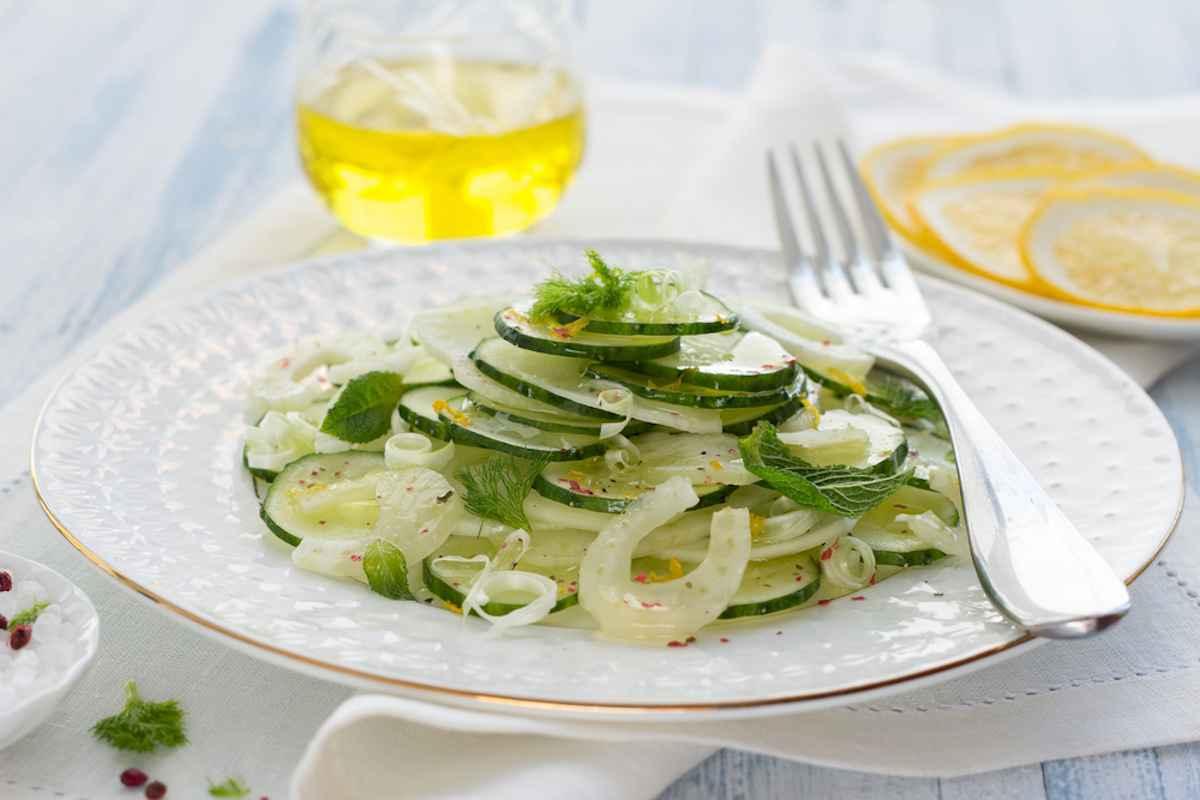 Finocchi e cetrioli marinati