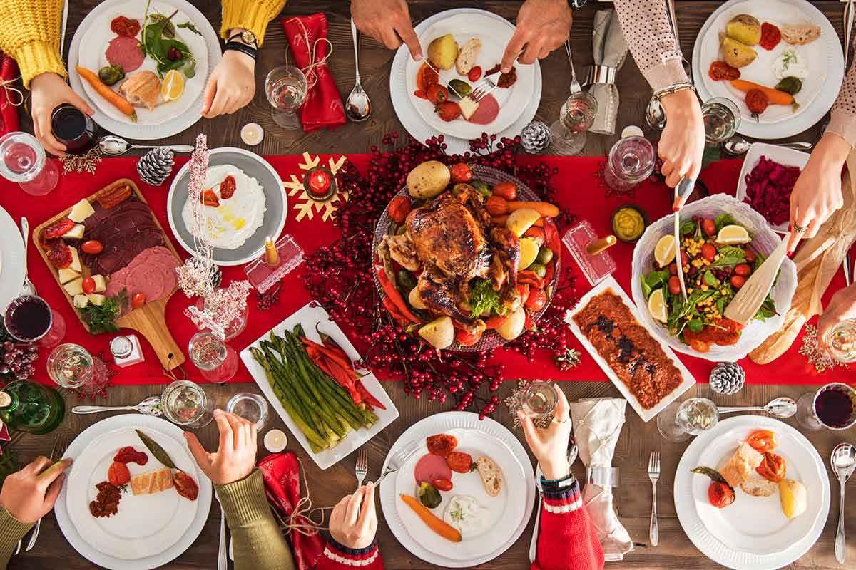 Pranzo di Natale, cibi calorici