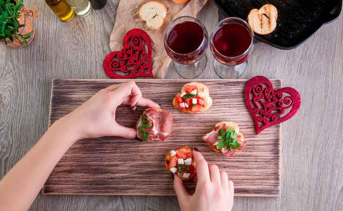 tartine semplici e sfiziose per san valentino