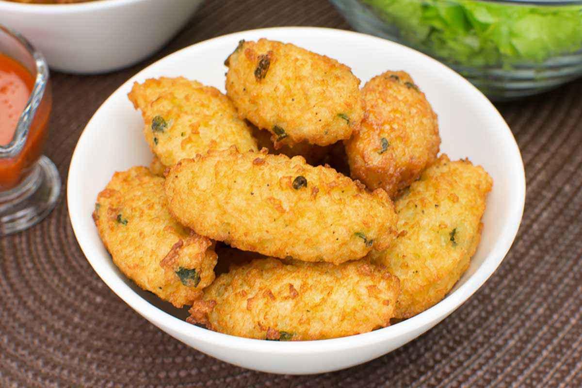 Crocchette di riso con gamberetti
