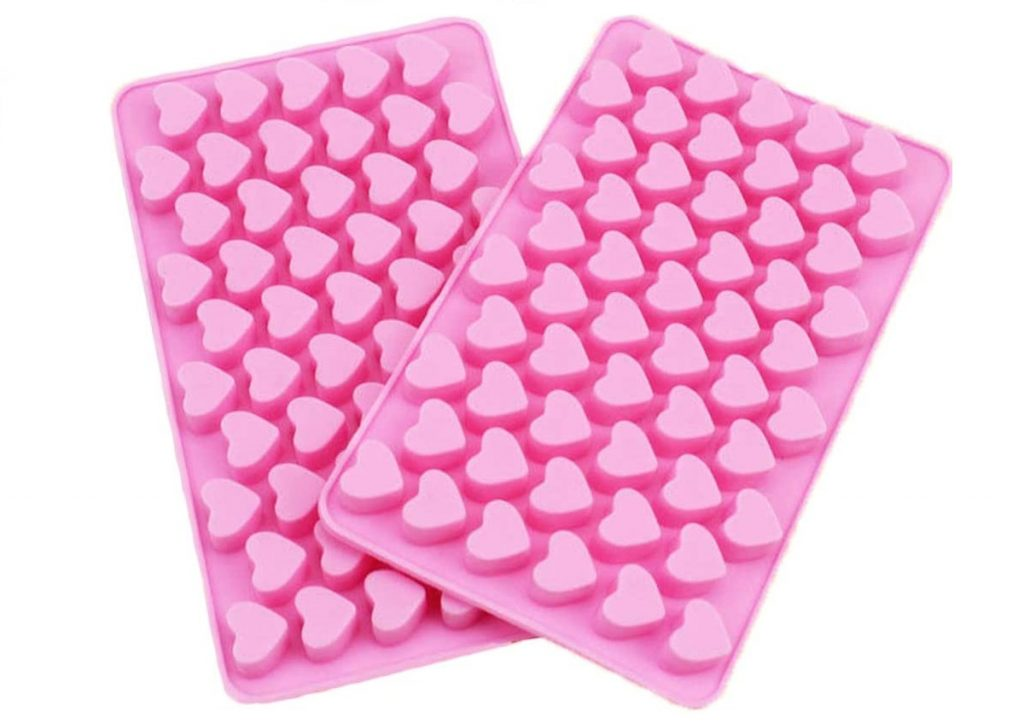 stampo in silicone a forma di cuore per cioccolatini e ghiaccio