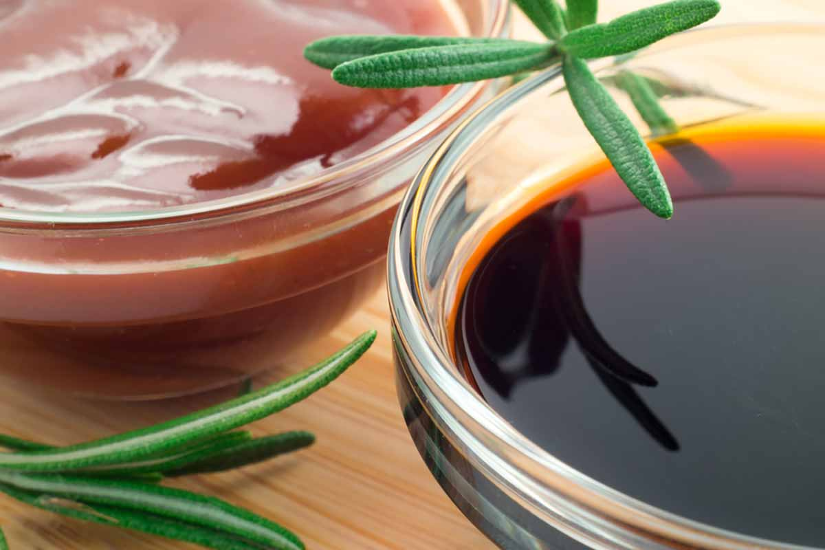 Salsa di soia e miele
