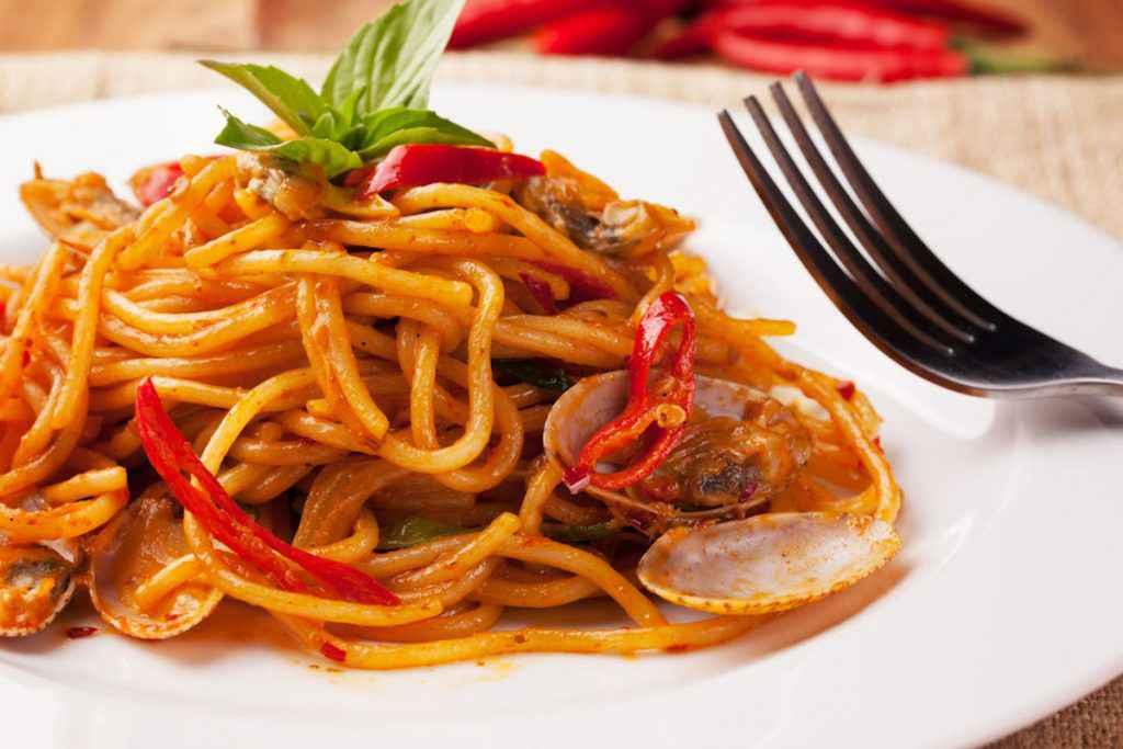 Spaghetti alle vongole al pomodoro