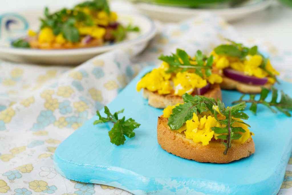 tartine mimosa
