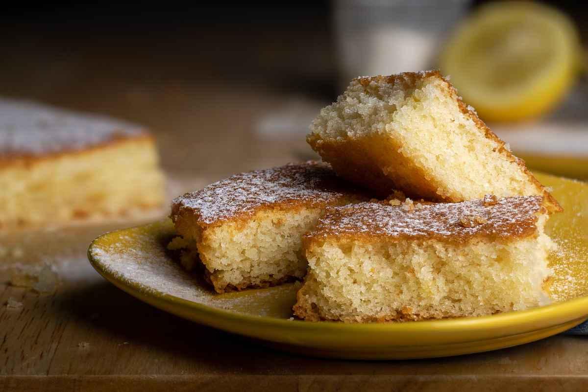 torta al limone morbida