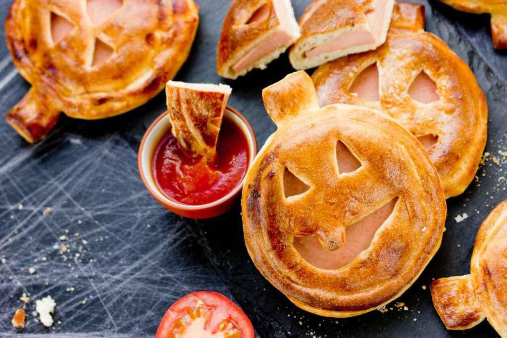 ricette halloween facili dolci e salate con pizzette ripiene