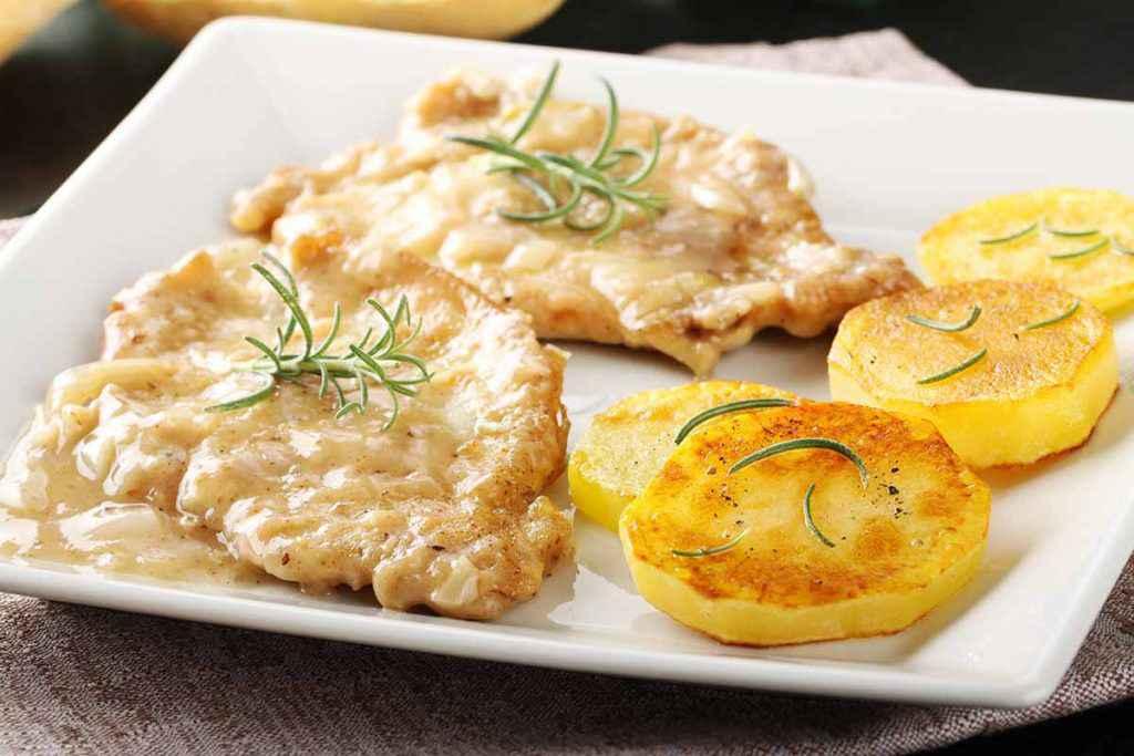 Scaloppine al limone con patate