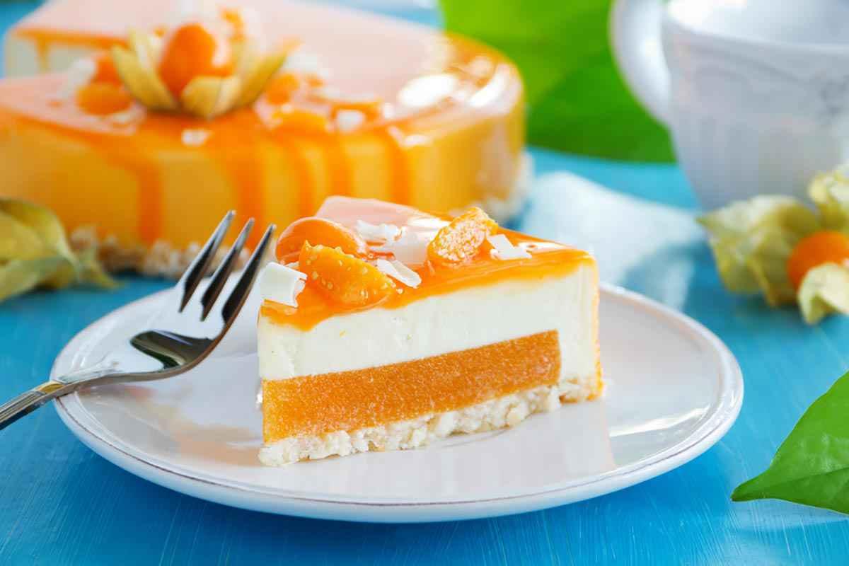 Cheesecake con gelatina di cachi