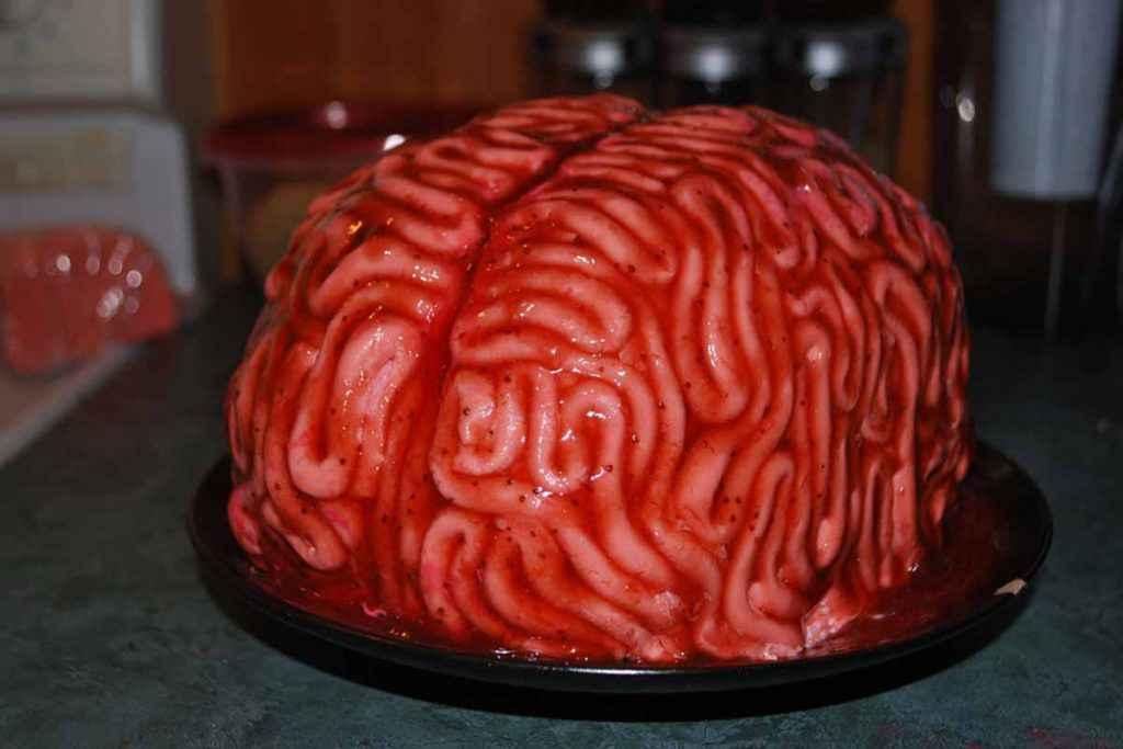 Desser a forma di cervello per la festa di Halloween