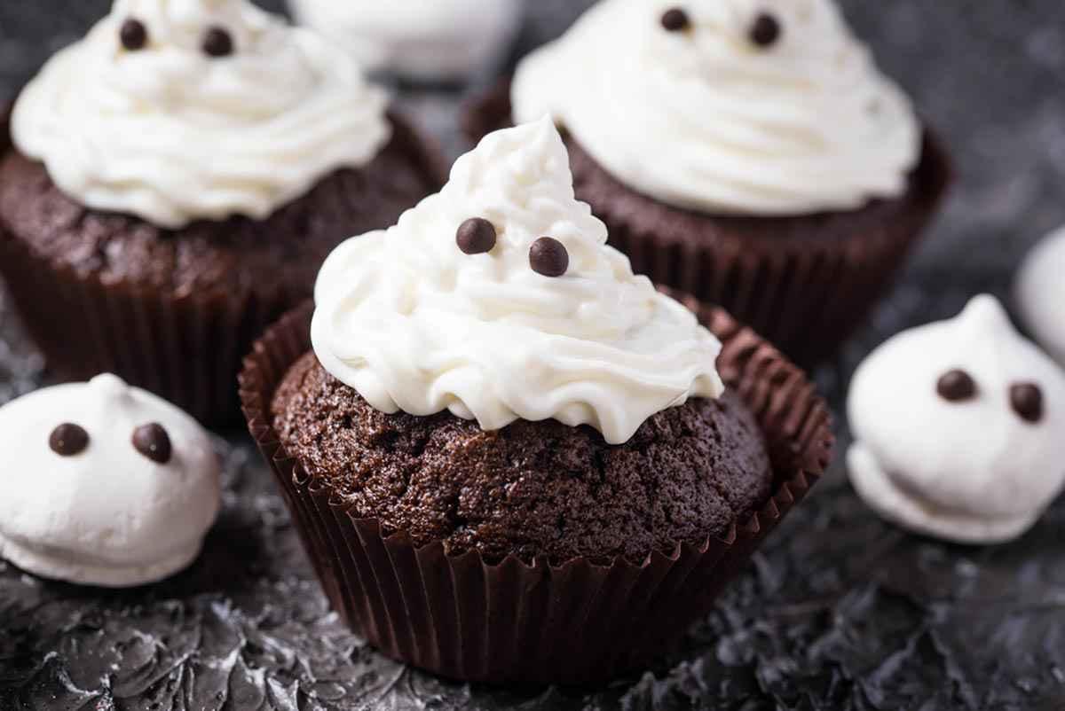 Cupcake fantasmini vegani per Halloween