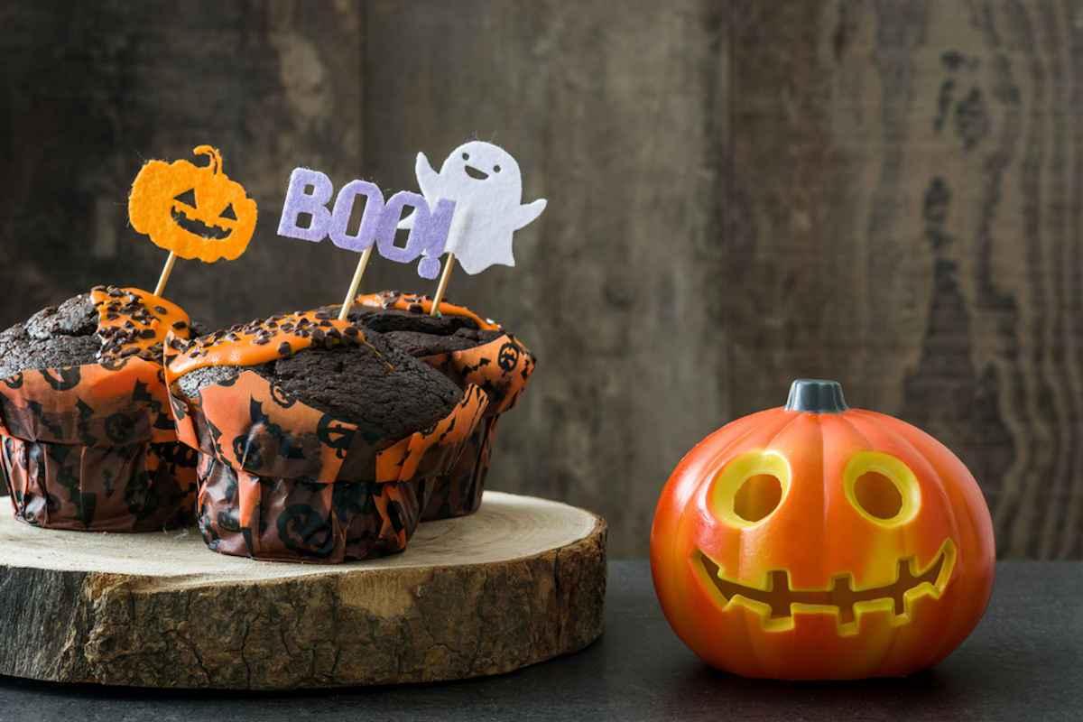 Muffin al cioccolato senza glutine per Halloween
