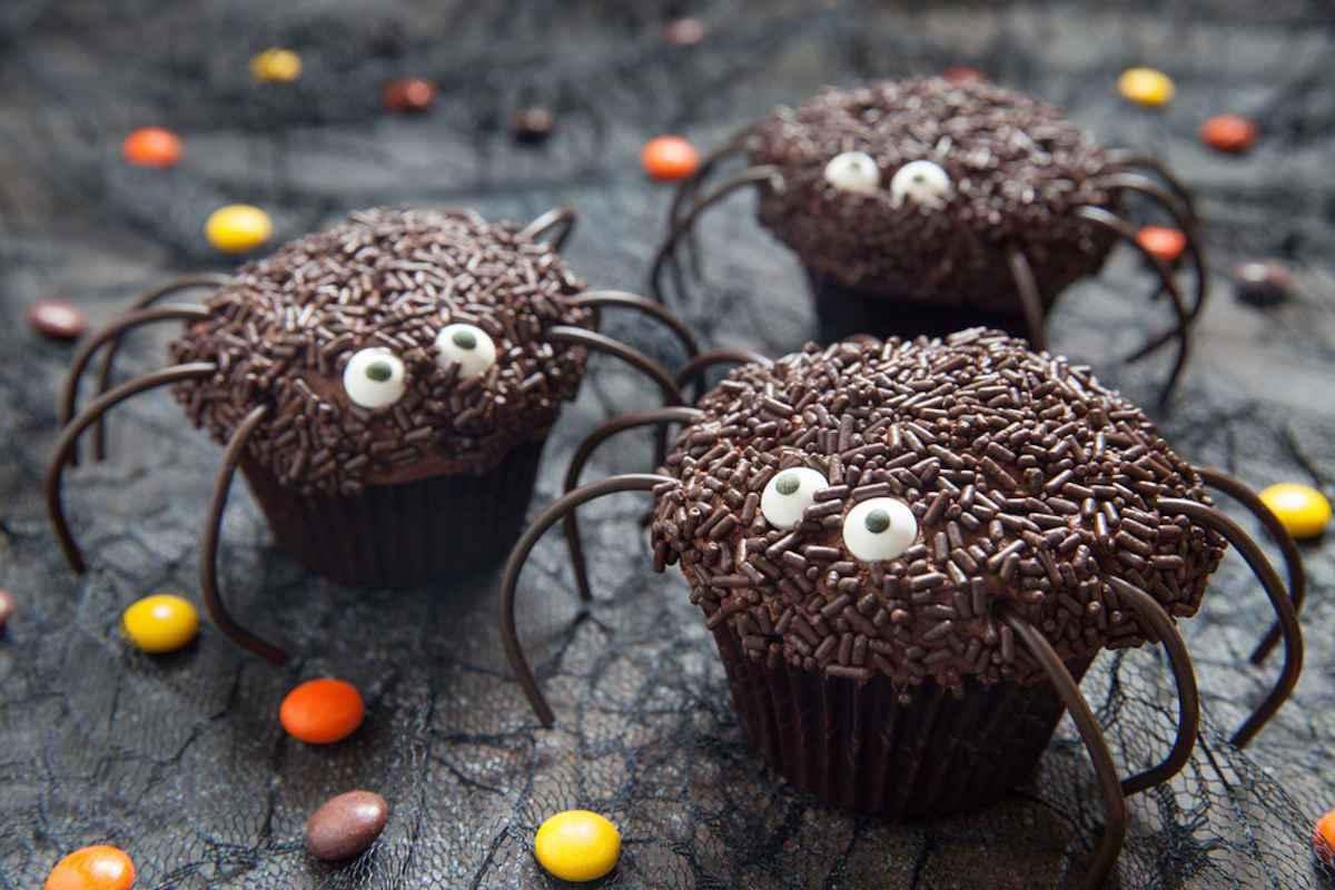 Ragni spaventosi al cioccolato per Halloween