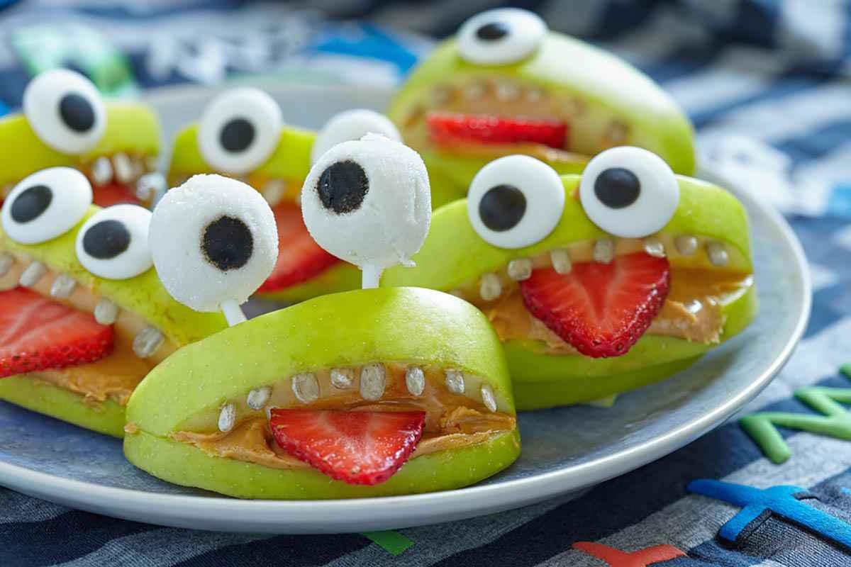 Ranocchio mostro con la frutta Halloween