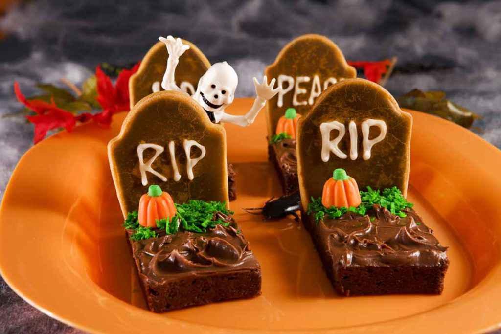 Tombe brownies per Halloween
