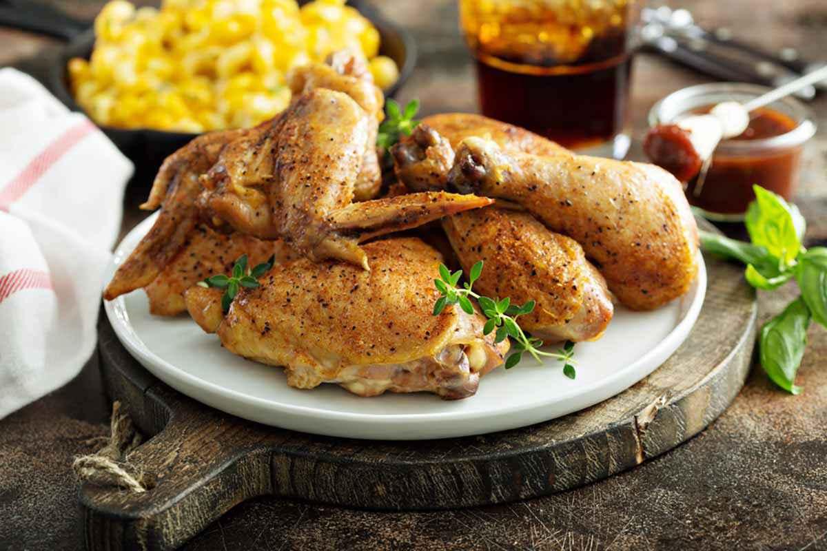 Pollo al forno al limone
