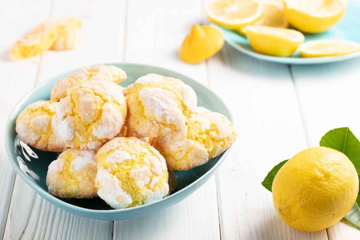 biscotti al limone crepati morbidi e profumati