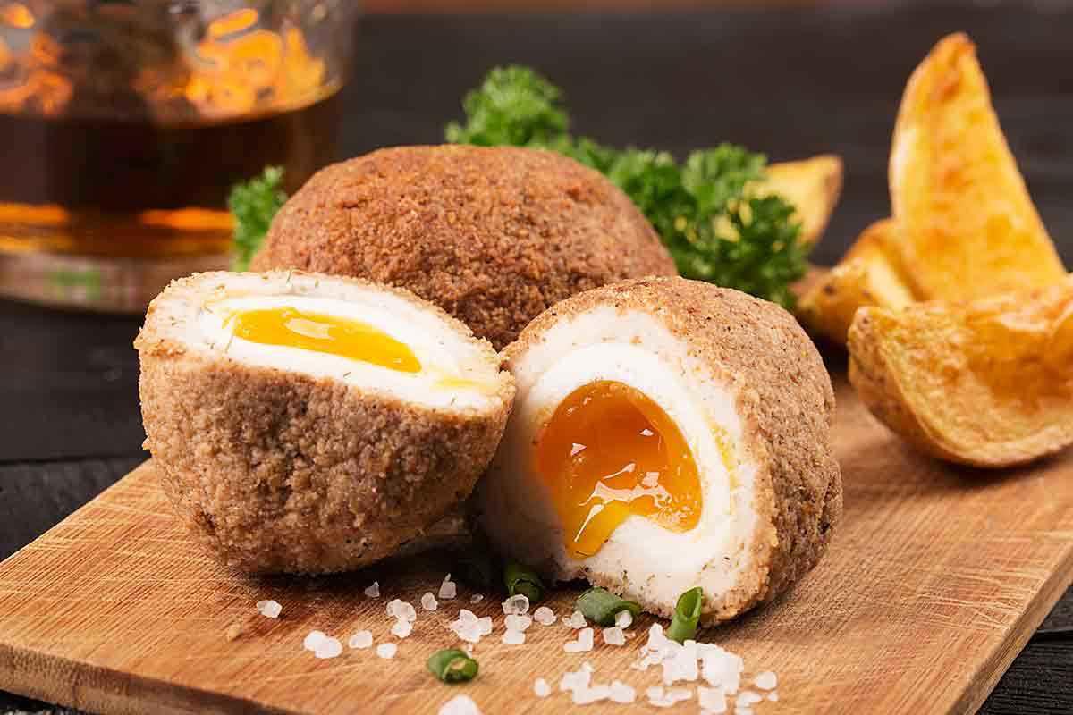 Frittelle di uova con tuorlo morbido