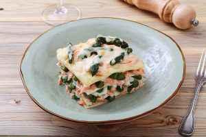 lasagne asparagi e salmone