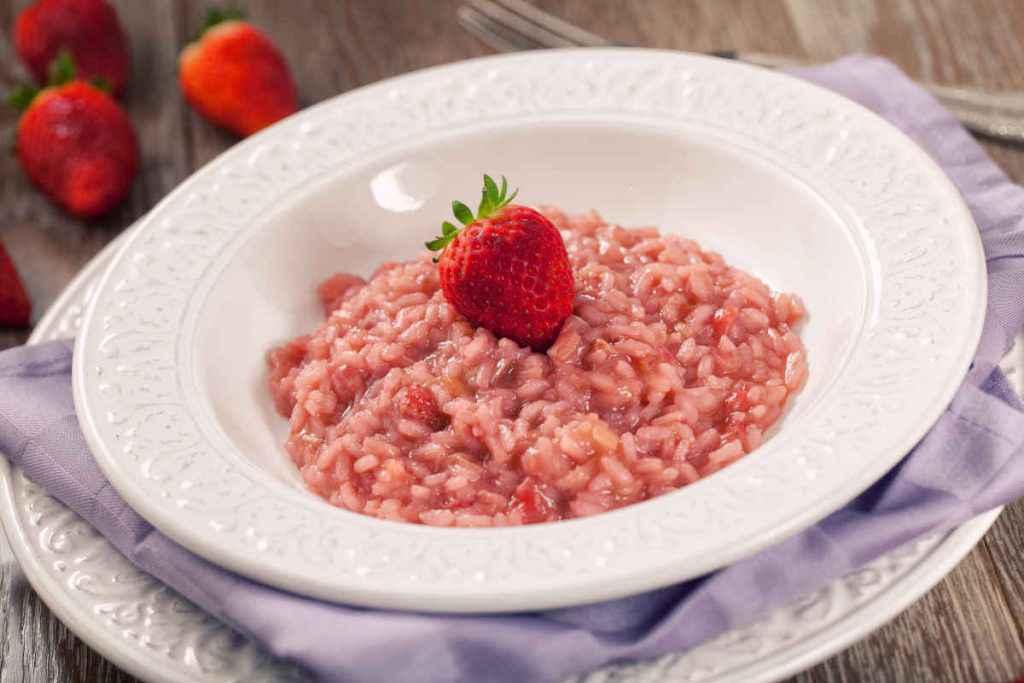 risotto con fragole
