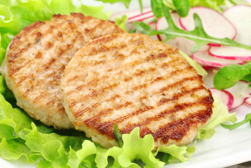 hamburger di pollo light cotti al forno