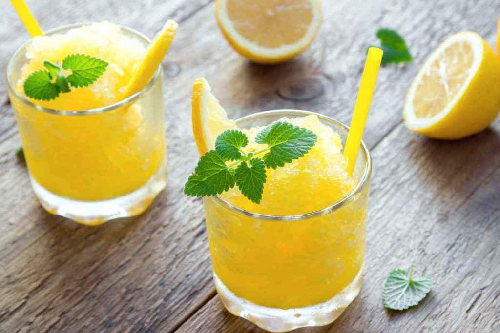 granita di limone bimby