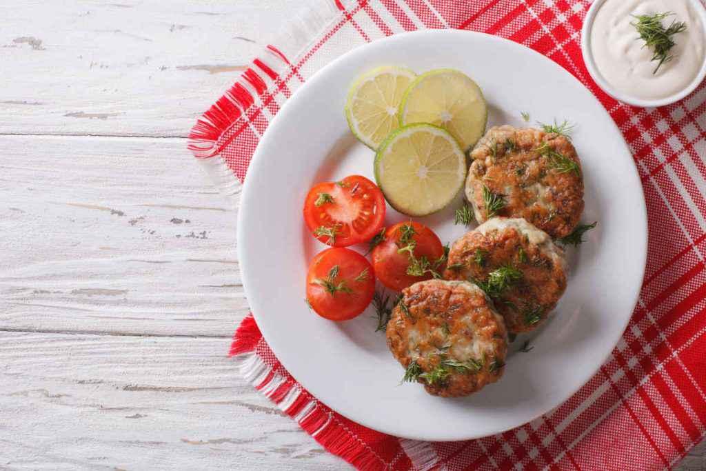 hamburger di pesce senza panatura fish burger