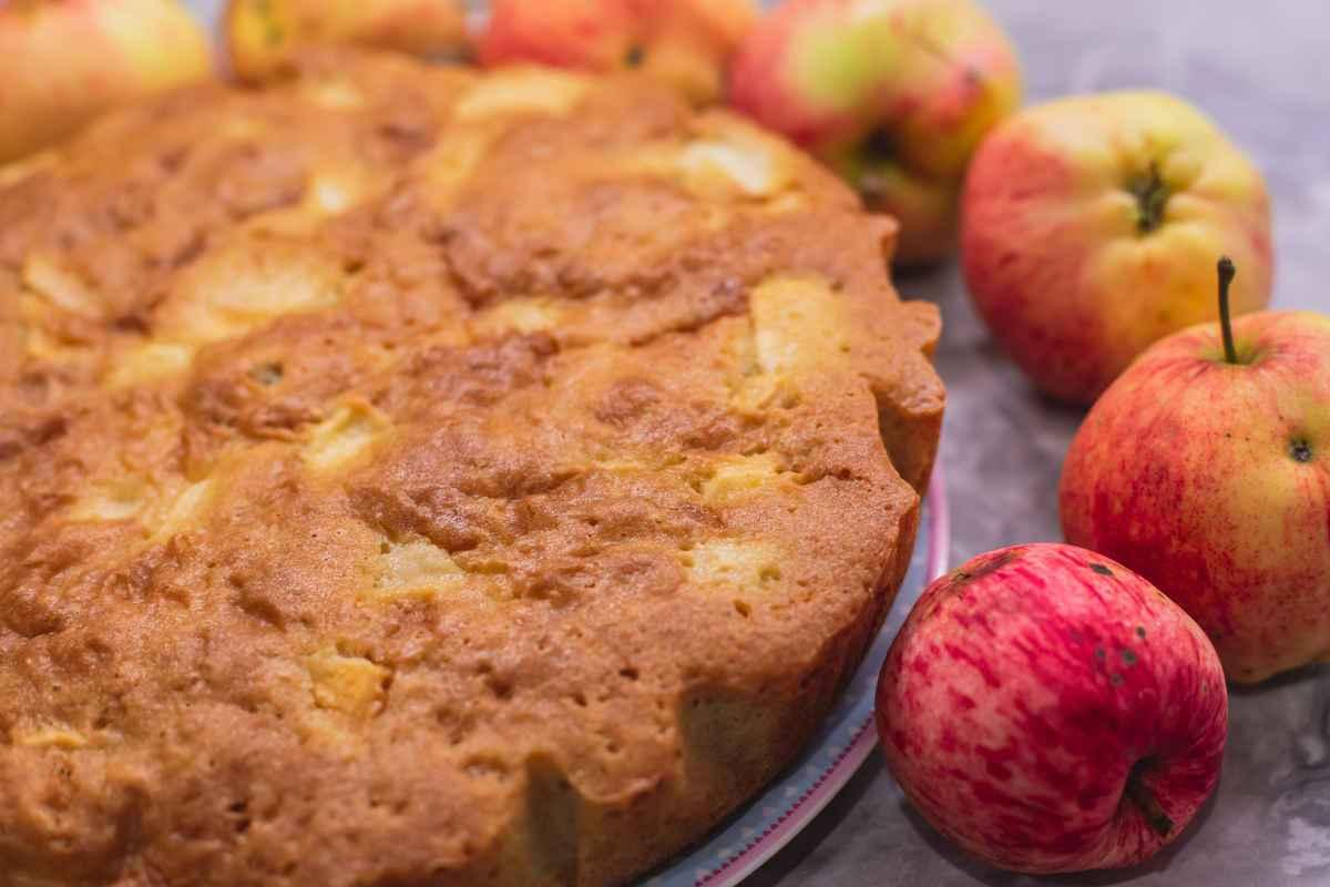 torta di mele con farina di riso senza glutine