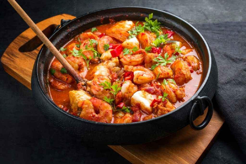 zuppa di pesce fresco