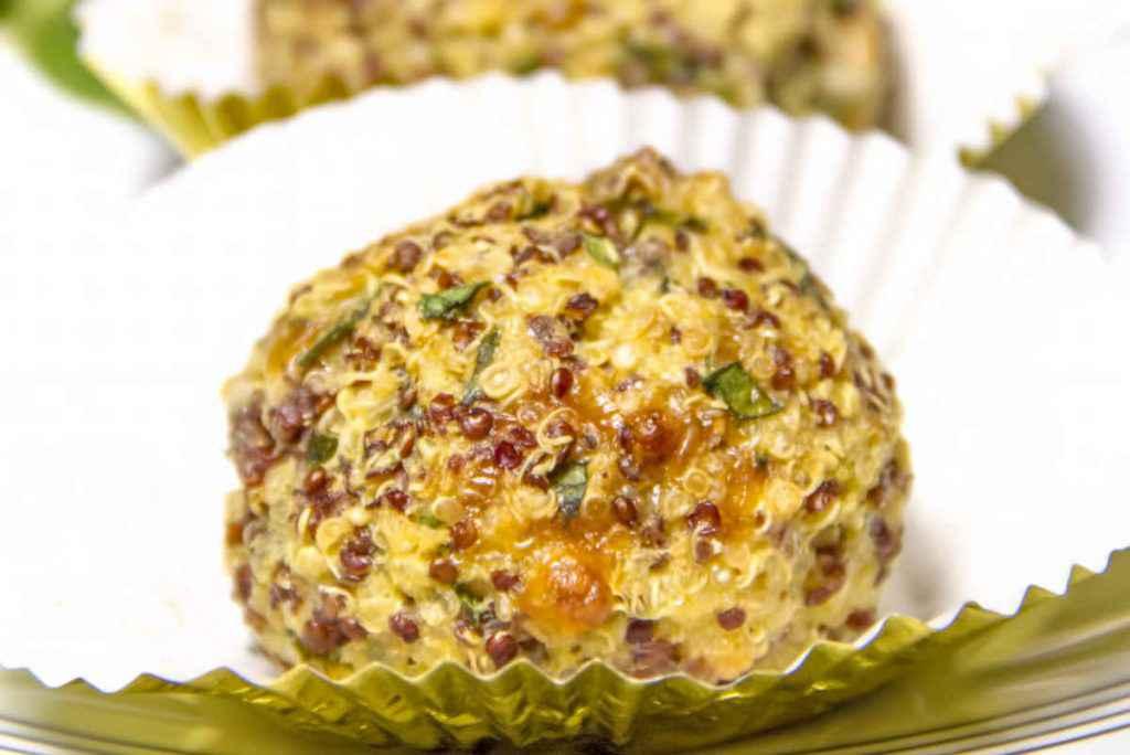 polpette di quinoa per il menu dietetico
