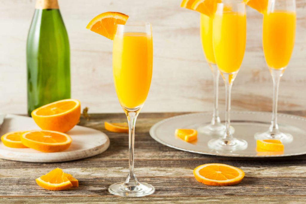 mimosa cocktail con champagne