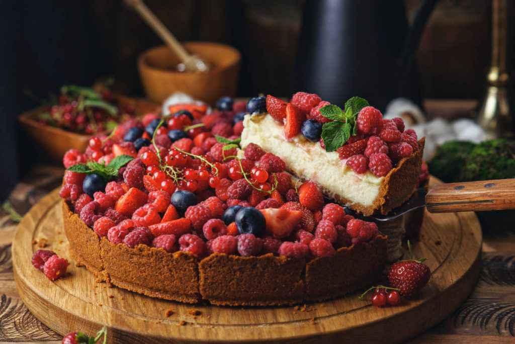 cheesecake ai frutti di bosco cotta