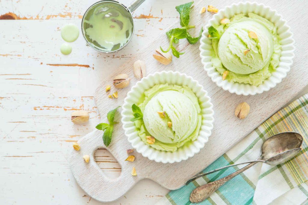 gelato al pistacchio senza gelatiera