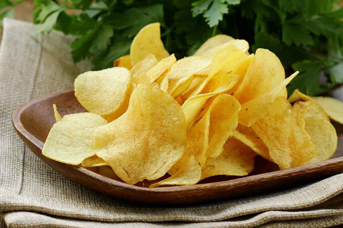 Chips patate fritte