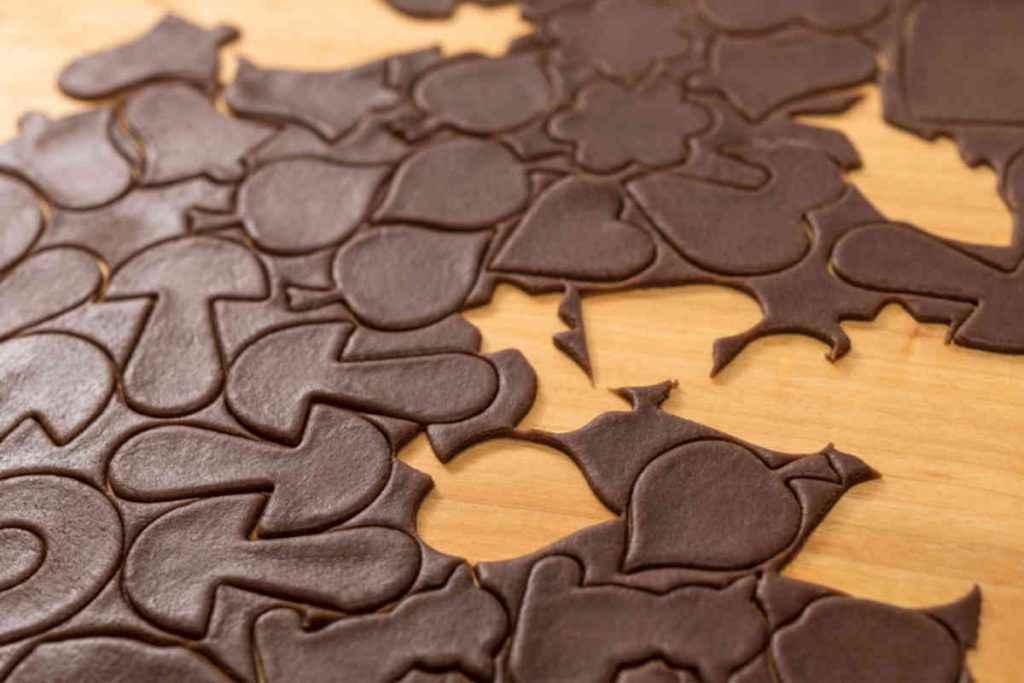 biscotti di pasta frolla al cacao