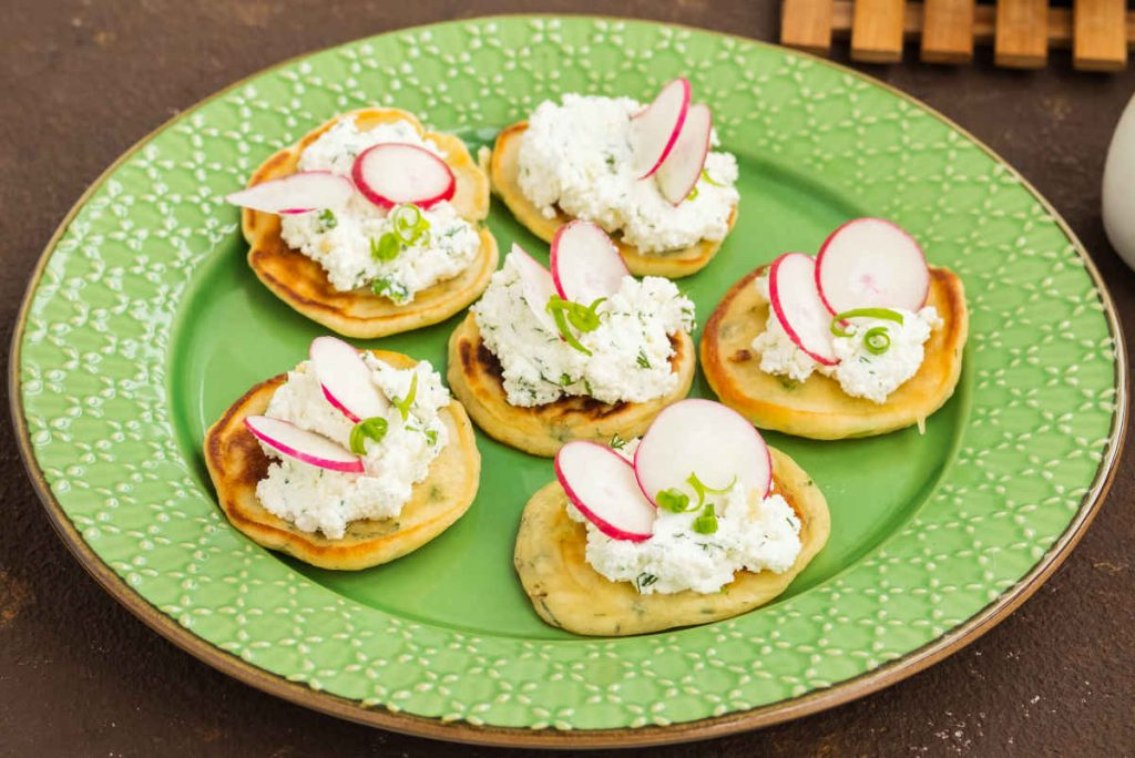 mini pancake salati farciti con philadelphia