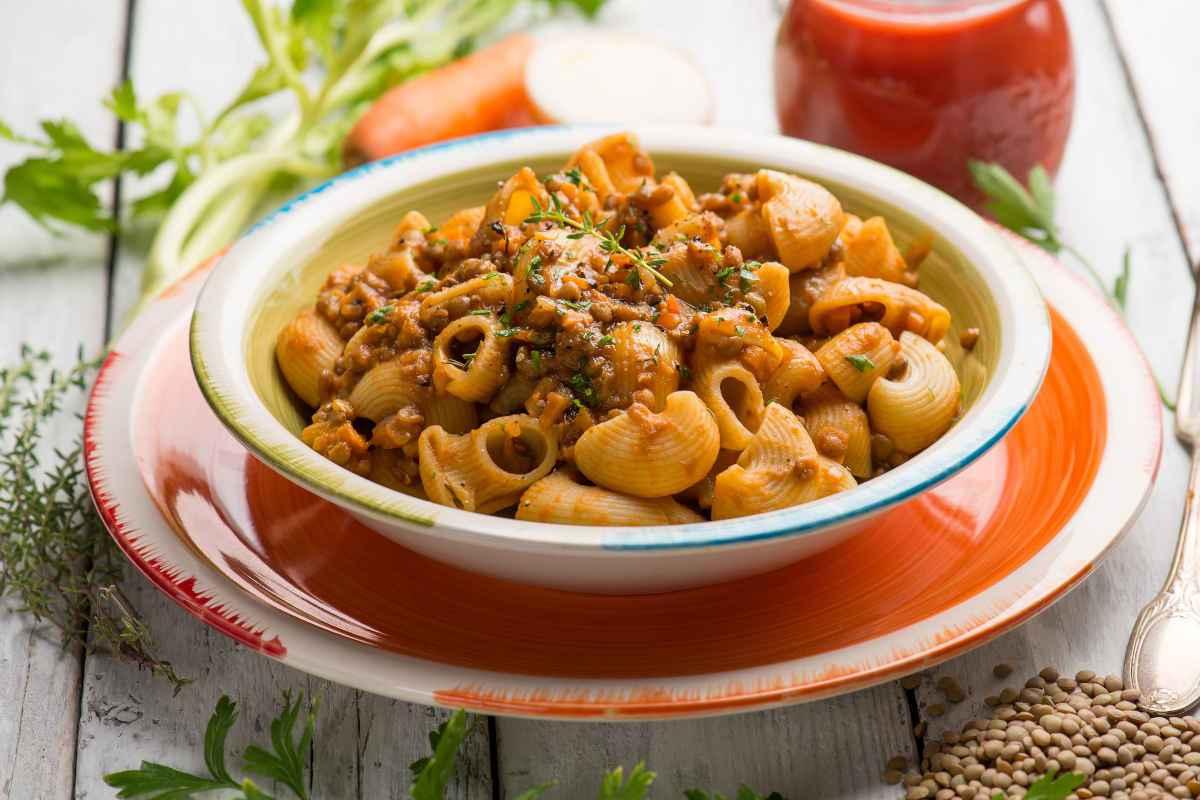 Pasta saporita con lenticchie