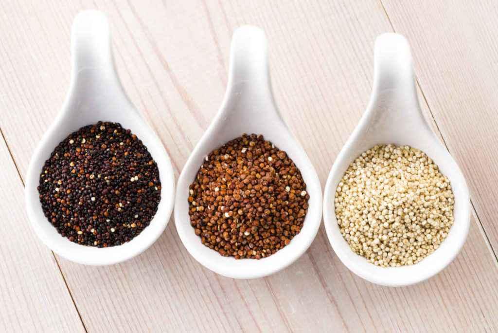 quinoa bianca rossa e nera