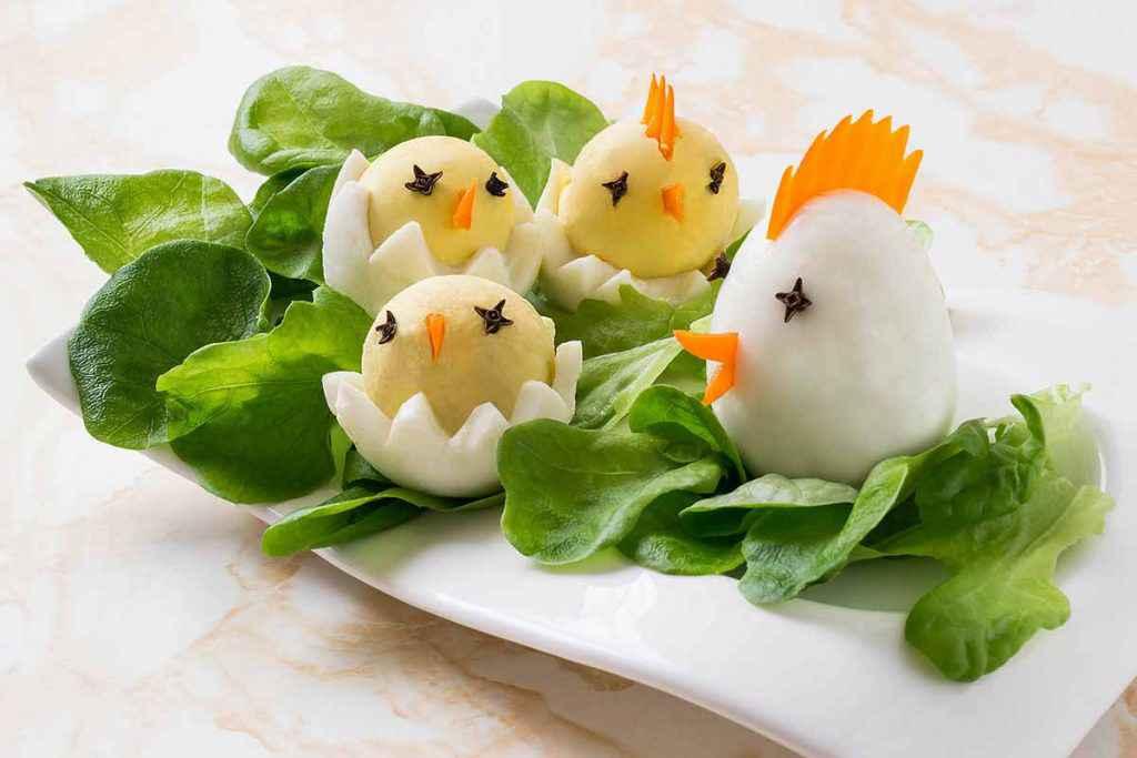 Uova pulcino antipasto per Pasqua